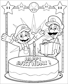 all super mario characters coloring pages